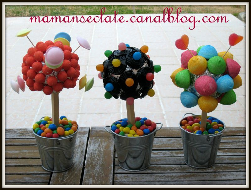 anniversaire arbre bonbons et couleurs pop maman s. Black Bedroom Furniture Sets. Home Design Ideas