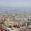 Barcelone, vue sur la ville depuis Montjuïc (Espagne)