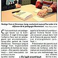 Article du républicain lorrain /formation montessori