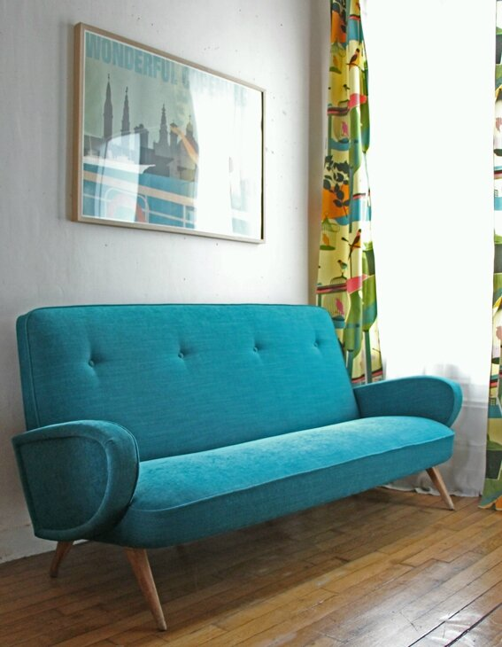 canape-annees-50-turquoise