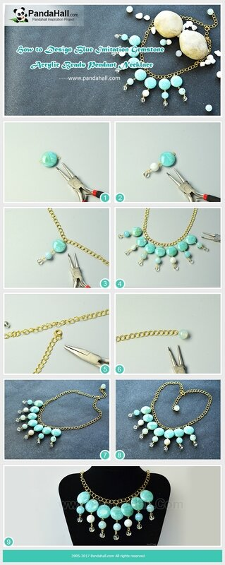 How-to-Design-Blue-Imitation-Gemstone-Acrylic-Beads-Pendant-Necklace