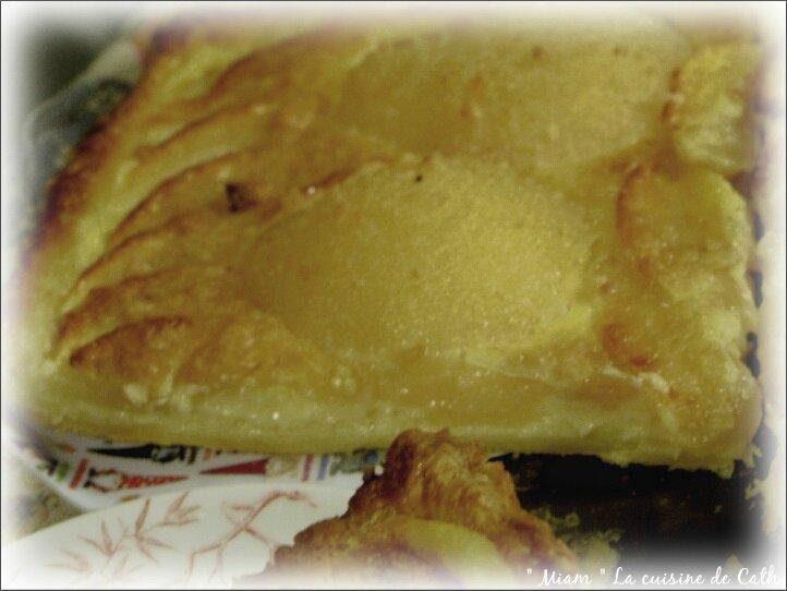 tarte feuilletée aux poires et pommes2