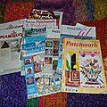 Mes parutions dans les magazines de patchwork