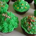 Cupcakes chocolat noir et menthe