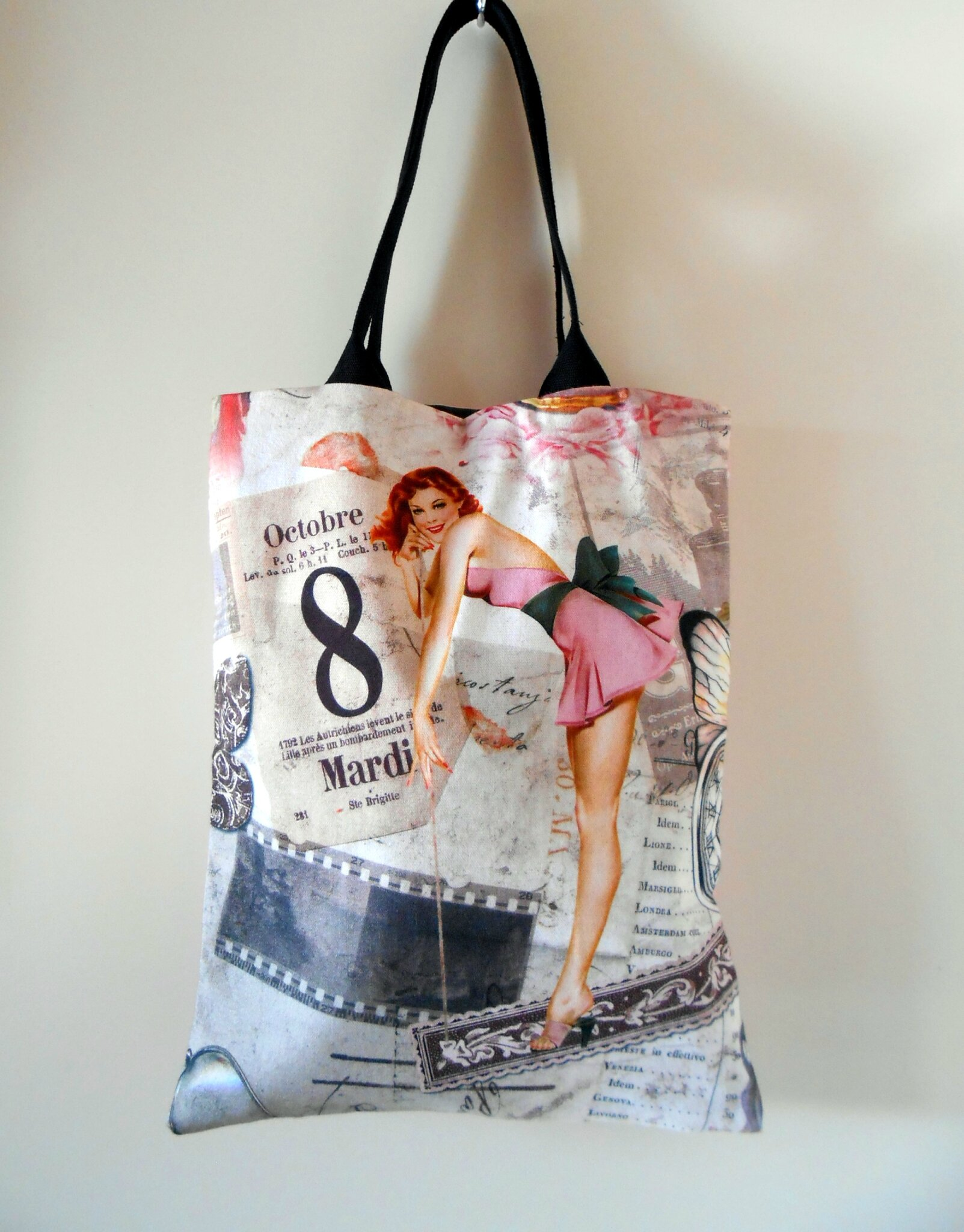 Sac cabas-pin-up-Clocréations