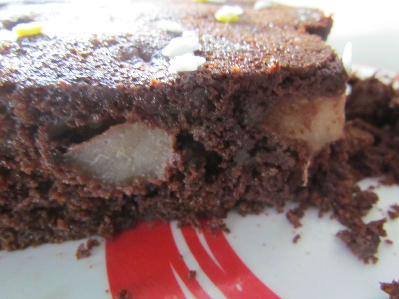 G teau fondant chocolat poire magauxfournaux - Peut on congeler des poires ...