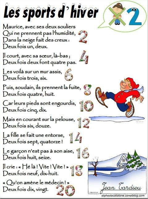 """... hiver"""" (Jean Tardieu) - table de X2 - Les alphas de LaCatalane"""