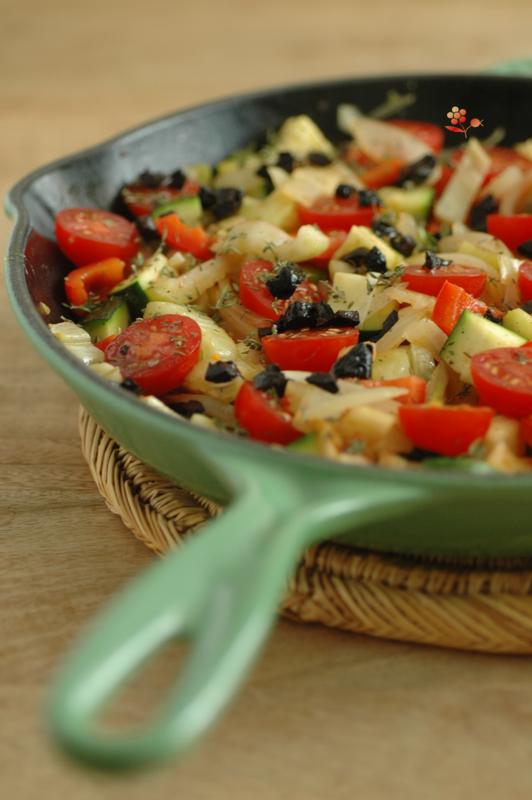 Poêlée de légumes rôtis au four & tofu laqué_3