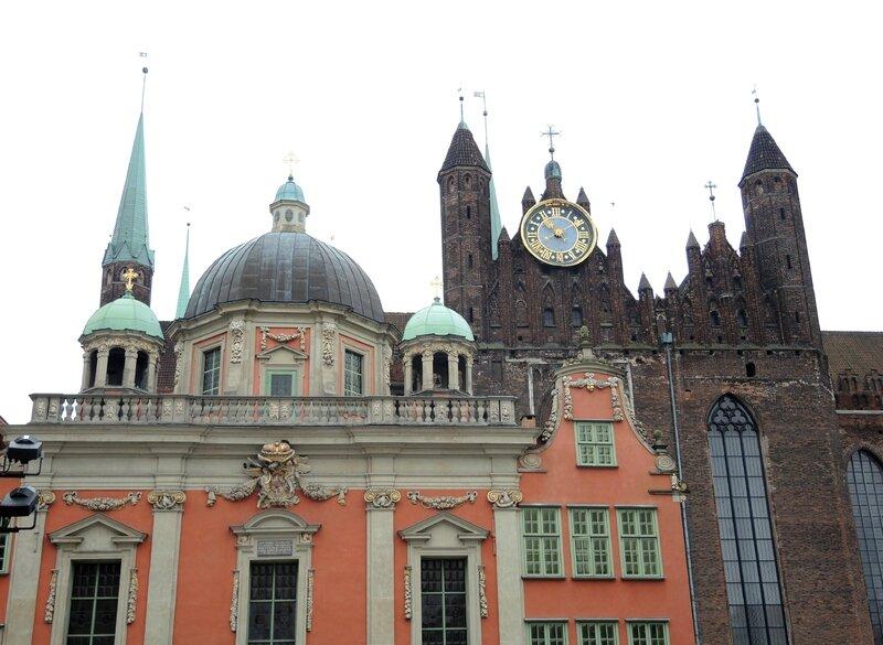 Gdansk, basilique Sainte-Marie et Kaplica (Pologne)
