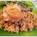 Cuisses de poulet au riz