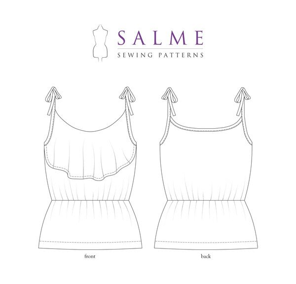 Salme Patterns - Flounce Top