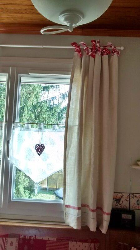 rideaux avec drap en lin chiffons macarons co. Black Bedroom Furniture Sets. Home Design Ideas