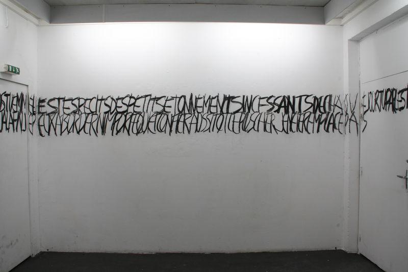 Pr cipite toi d tails dessin mural charbon emmanuel for Dessin mural