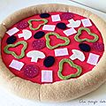 Pizza dînette feutrine Au pays des Cactus