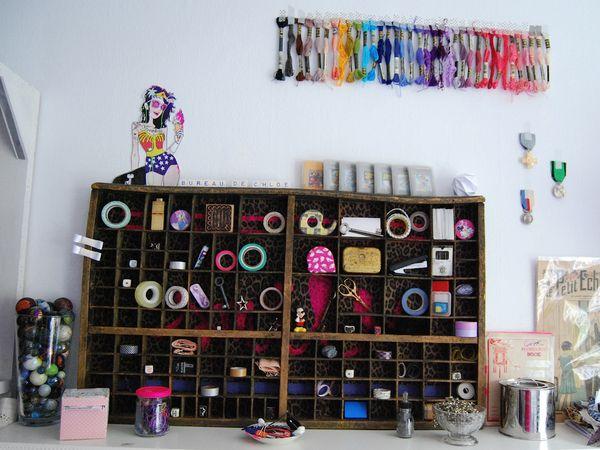 Diy le tiroir d 39 imprimerie devient funky la r serve de sidonie - Les etageres funky d de quirky ...