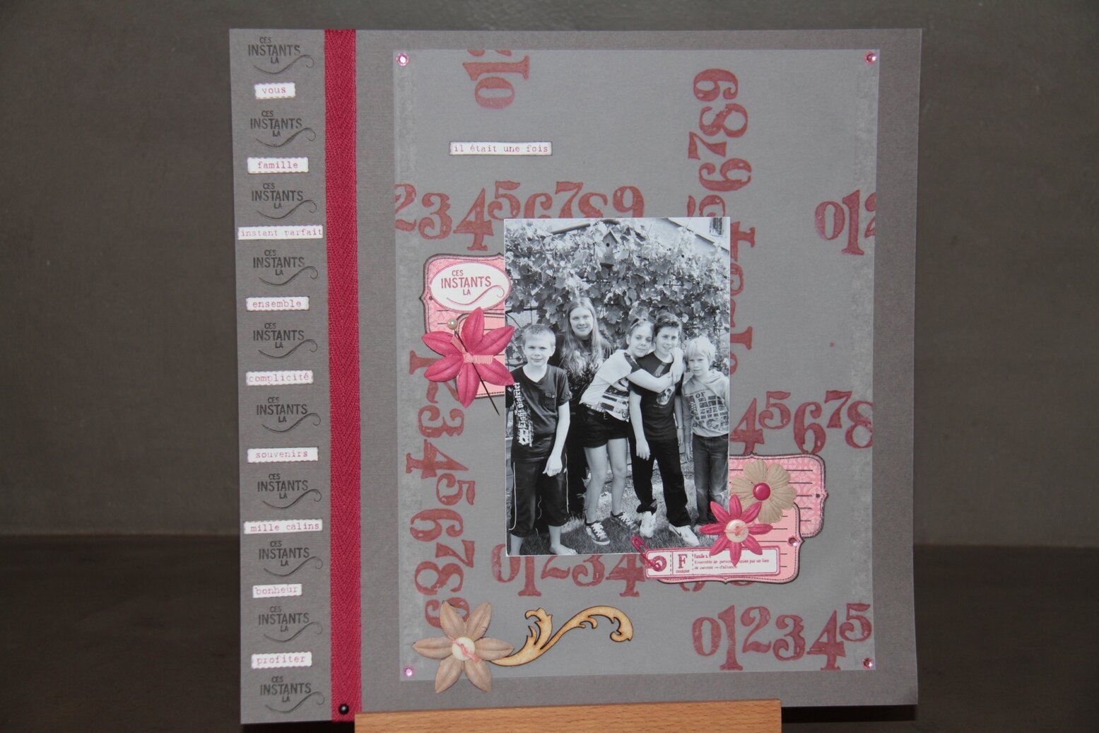 """kit pages mai 2013 """"Rose baroque"""""""