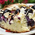 Ciasto z serem i jagodami/ gâteau au bleuets et fromage blanc
