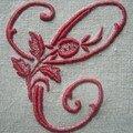 C à la rose, 10 cm de haut, coloris 498