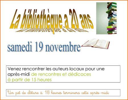 20 ans de la bibliothèque