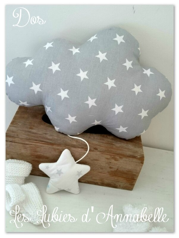 coussin musical gris etoile