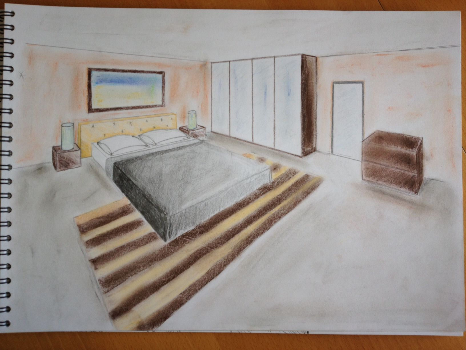 Dessins en perspective album photos so d co for Chambre perspective