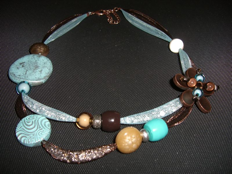 Collier choco truquoise