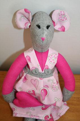 souris rose détail