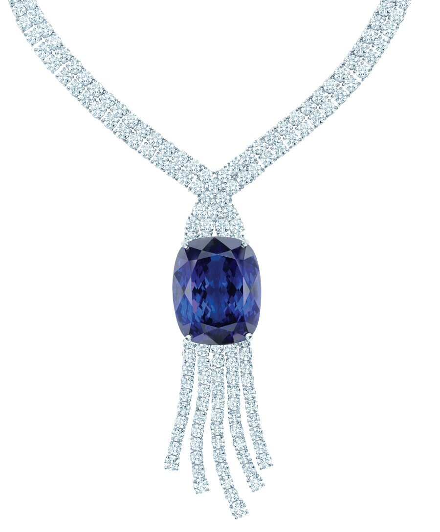 watch lc jewelry peacock shop youtube tanzanite at