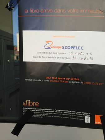 photo affichette fibre optique