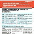 Inégalités géographiques de santé pour les enfants de 5/6 ans
