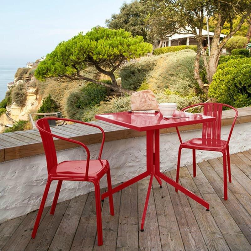 salon de jardin rouge conceptions de maison