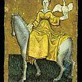 ca 1440-1445 - cartes peintes du Hofjagdspiel - reine des cygnes - itrionfidotcom