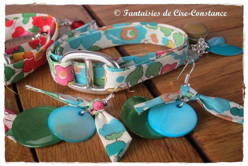 Bracelets catherine Betsy vert et grenadine-4
