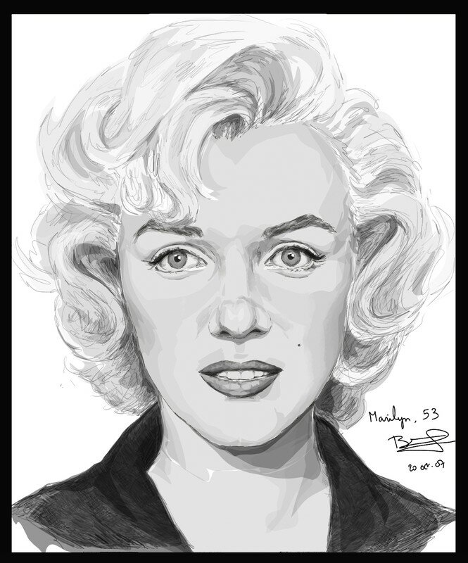 dessins et peintures sugar kane marilyn monroe. Black Bedroom Furniture Sets. Home Design Ideas