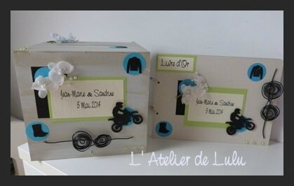 decoration mariage motard et orchidees - Urne Mariage Moto
