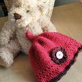 bonnet tricot/crochet