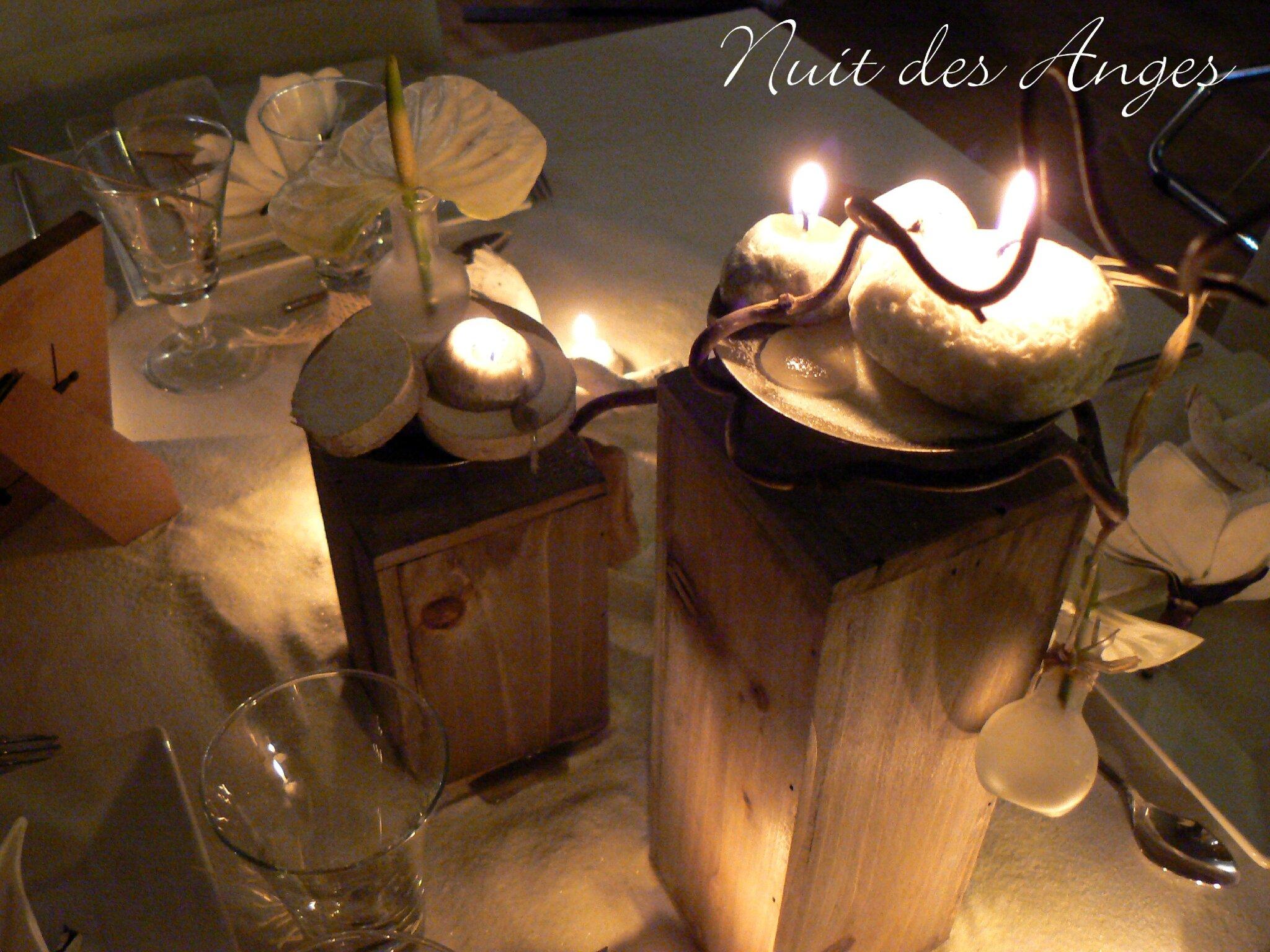 Table de nuit bois flott for Lampe de table de nuit