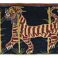 Tibet, early 20th century, khagangma (meditation rug)
