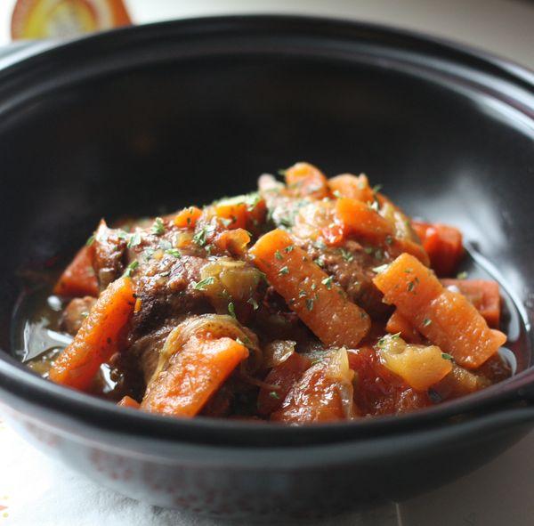 canard sucré salé carottes potimarron