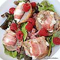 Salade chèvre-lardons-framboises