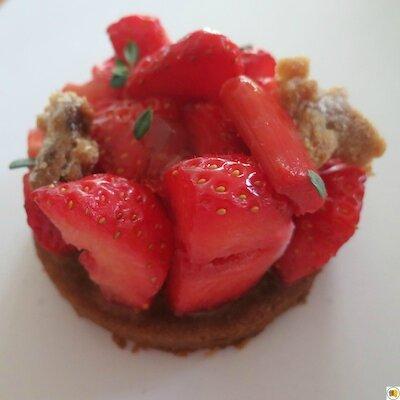 Sablé fraise rhubarbe (1)
