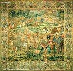 Le jeu de la quintaine, tapisserie des Valois, musée des Offices