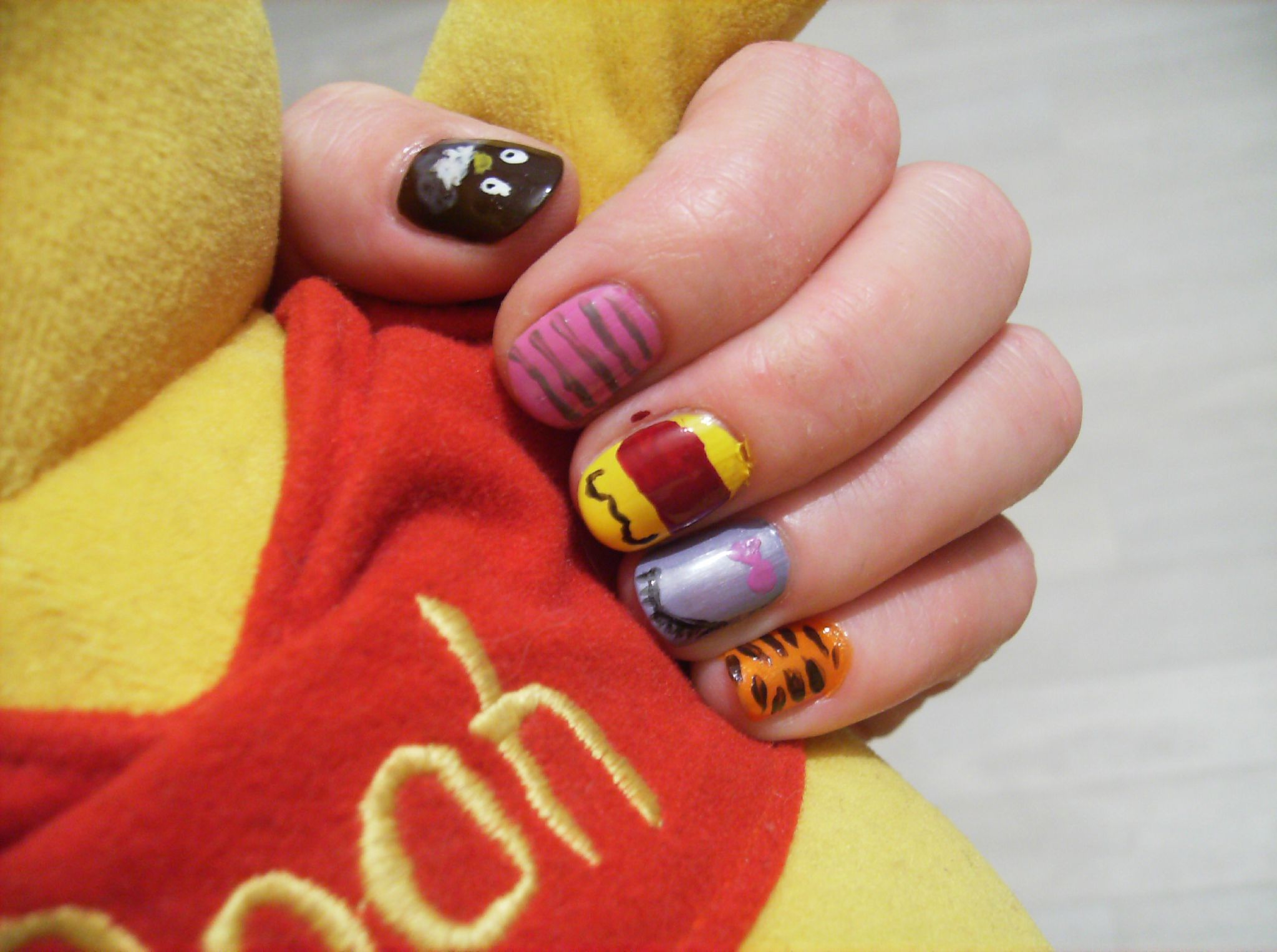 nail art winnie l ourson