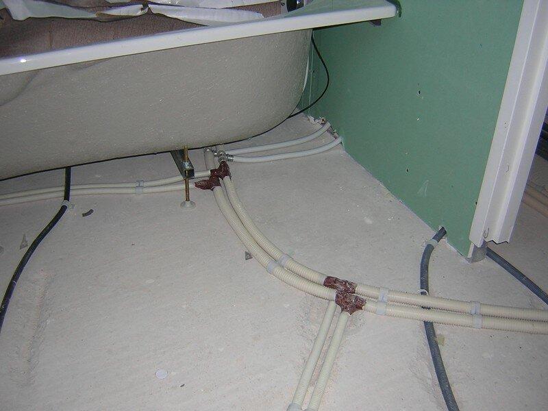 Plomberie du 22 01 au 26 01 2007 ma maison en aveyron for Chape seche salle de bain