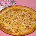 tarte cassonade ,petits suisse, amandes...