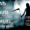 Affiche du concert rock EMS - Bleed - Ezekiel au Moda bar