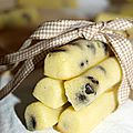 Fingers au fromage blanc et pépites au chocolat