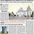 Violations de sépultures au château de la bouère
