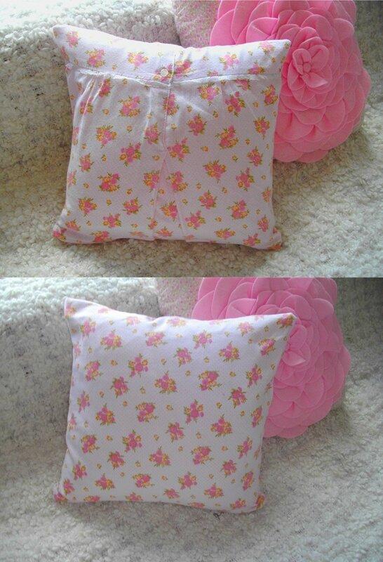 coussin mémé fleur pois rose chemise de nuit