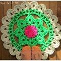 Rug crochet néon